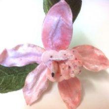 Large Velvet Orchid Flower Shell Pink